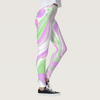 Rainbow Unicorn Legs Marbleized Leggings