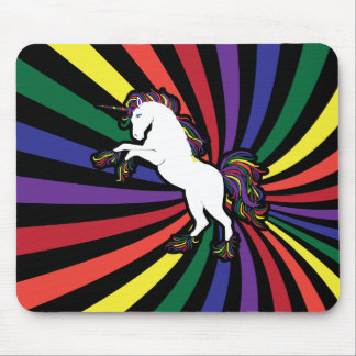 Rainbow Unicorn Mouse Pad