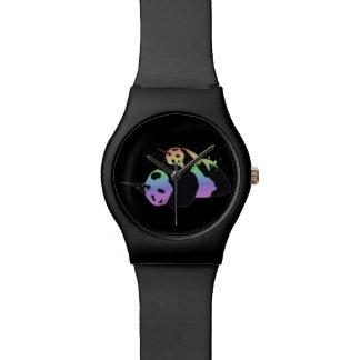 Rainbow Unicorn Pandas Magic Sparkle Cuddle Wristwatches