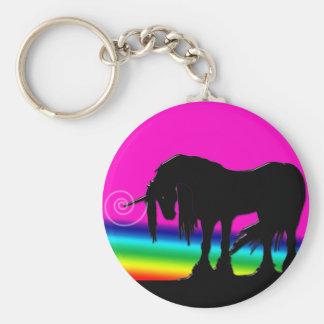 Rainbow Unicorn Party Key Ring