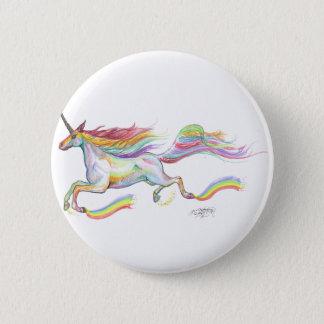 Rainbow Unicorn Pegasus Horse Pony Flying Cute 6 Cm Round Badge