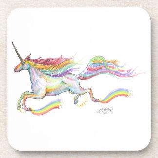 Rainbow Unicorn Pegasus Horse Pony Flying Cute Coaster