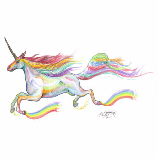 Rainbow Unicorn Pegasus Horse Pony Flying Cute Standing Photo Sculpture