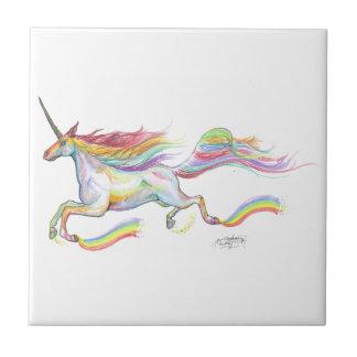 Rainbow Unicorn Pegasus Horse Pony Flying Cute Tile