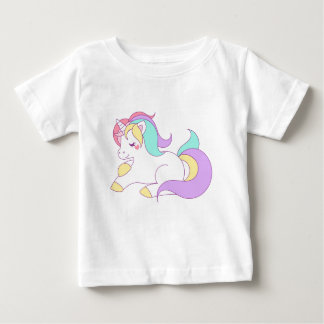 Rainbow unicorn pony horse cartoon design baby T-Shirt