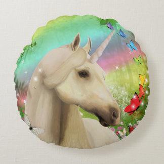 Rainbow Unicorn Round Cushion