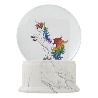 Rainbow Unicorn Snow Globe