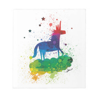 Rainbow Unicorn Sparkles Notepad