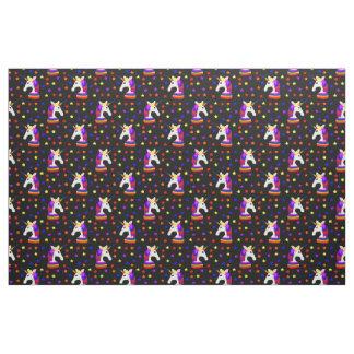 Rainbow Unicorn Stars Fabric