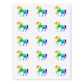 Rainbow Unicorn Tatoo