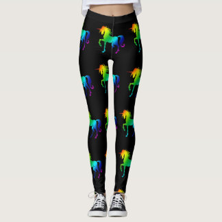 Rainbow Unicorn with all shades of colors Leggings