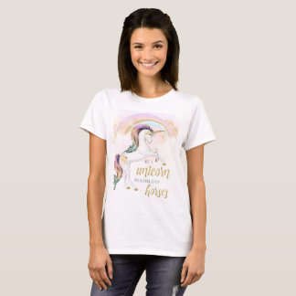 Rainbow Unicorn Womens TShirt