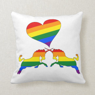 Rainbow Unicorns Cushion