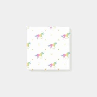 Rainbow Unicorns & Gold Stars Pattern Post-it® Notes