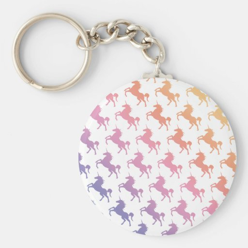 Rainbow Unicorns.pdf Keychain