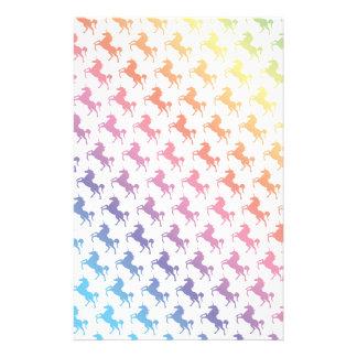 Rainbow Unicorns Customised Stationery