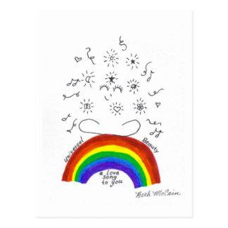 Rainbow Universal Song Postcard