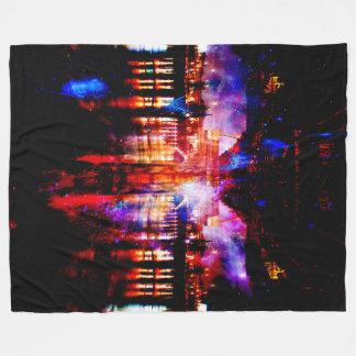 Rainbow Universe Bridge Fleece Blanket