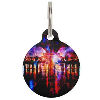 Rainbow Universe Bridge Pet Name Tag