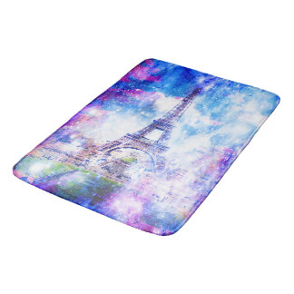 Rainbow Universe Paris Bath Mats