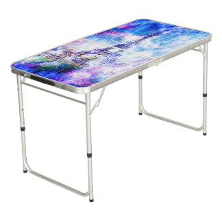 Rainbow Universe Paris Beer Pong Table