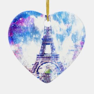 Rainbow Universe Paris Ceramic Heart Decoration
