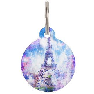 Rainbow Universe Paris Pet Tag