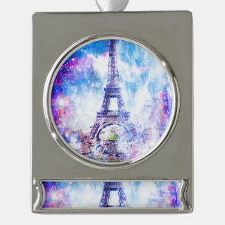 Rainbow Universe Paris Silver Plated Banner Ornament