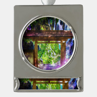 Rainbow Universe's Pathway to Paradise Silver Plated Banner Ornament