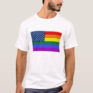Rainbow USA Flag men's shirt