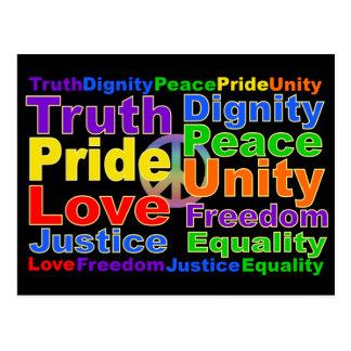 Rainbow Values postcard