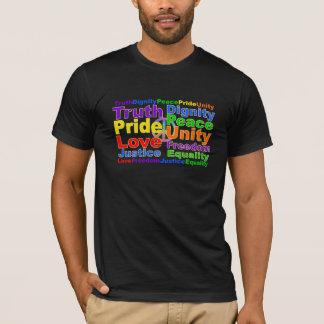 Rainbow Values shirt - choose style & color