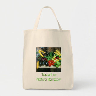 Rainbow Veggies Grocery Bag