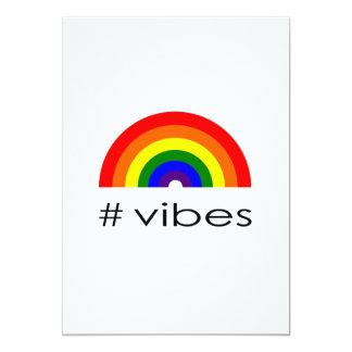 Rainbow vibes card