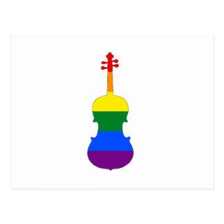 Rainbow Viola Postcard