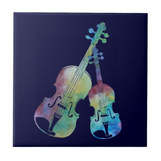 Rainbow Violin and Viola Tile