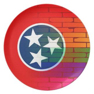 Rainbow Wall Tennessee Plate