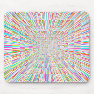 Rainbow Warp Speed Mouse Pad