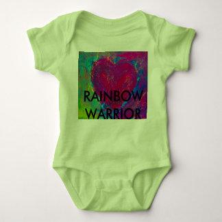 Rainbow Warrior Abstract Heart Baby Bodysuit