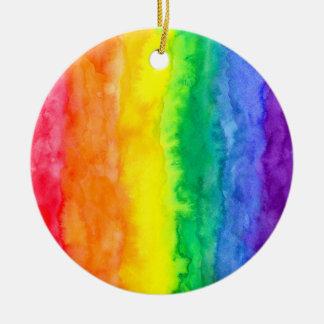 Rainbow Wash Circle Ornament