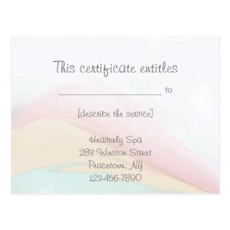 Rainbow Wash Gift Certificate Postcard