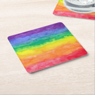 Rainbow Wash Paper Coaster