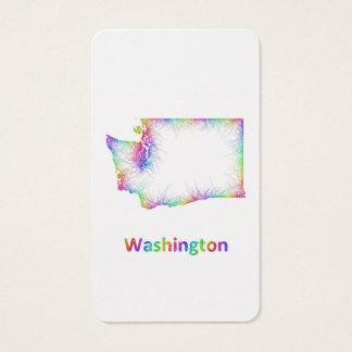 Rainbow Washington map Business Card