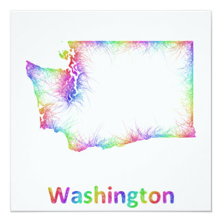 Rainbow Washington map Card