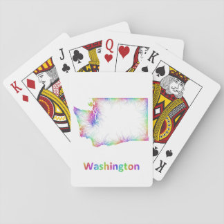 Rainbow Washington map Playing Cards