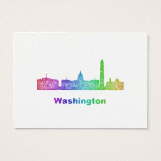 Rainbow Washington skyline Business Card