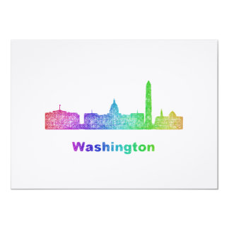 Rainbow Washington skyline Card