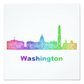 Rainbow Washington skyline Card