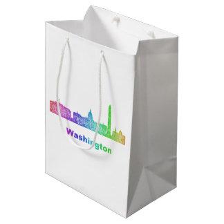 Rainbow Washington skyline Medium Gift Bag