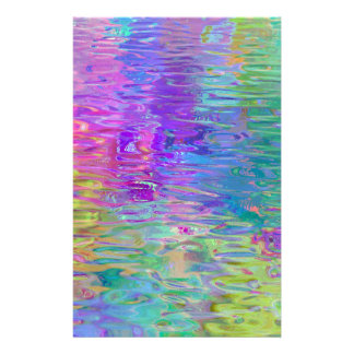 Rainbow Water Reflection Stationery Design
